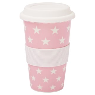 Coffee to go Becher Sterne rosa