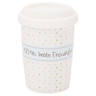 Coffee to go Becher klein 100% beste Freundin