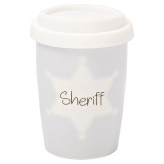 Coffee to go Becher klein Sheriff