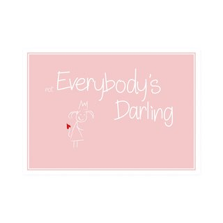 Postkarte Quer not Everydody´s Darling