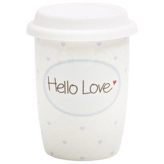 Coffee to go Becher klein Hello Love