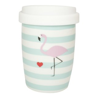 Coffee to Go Becher klein Flamingo