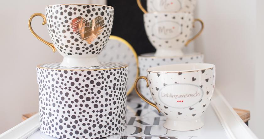 Cuppuccino Tasse im Geschenkkarton